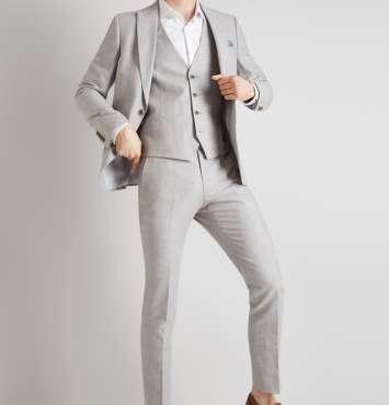 2Pc Linen Suit