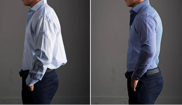 Shirt taper back
