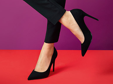 Ladies heel leather half sole