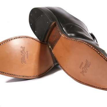 Men heel leather half sole