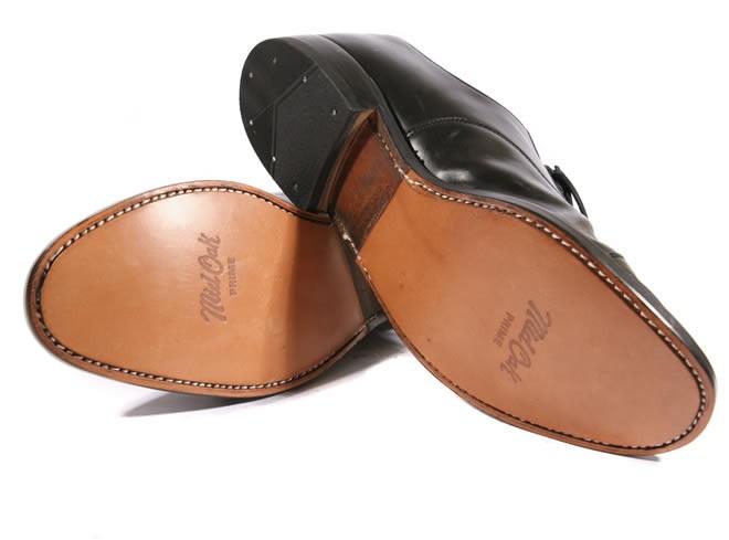 Men heel leather half sole